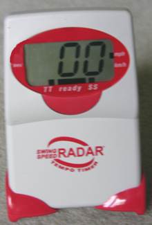 A. Swing Speed Radar™ with Tempo Timer